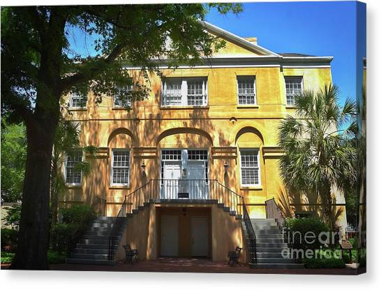 University Of South Carolina Canvas Print - Mccutchen House, Sc by Skip Willits