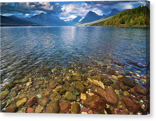 Mcdonald Lake Colors Canvas Print