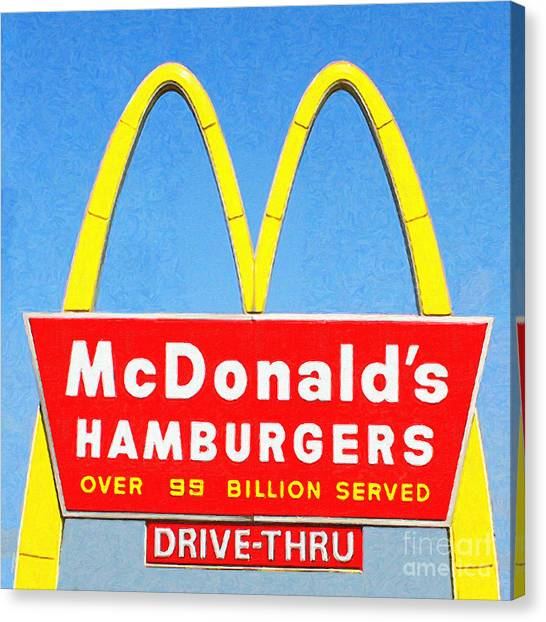 Mcdonalds Hamburgers . Over 99 Billion Served Canvas Print
