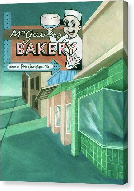Mcgavins's Bakery Canvas Print
