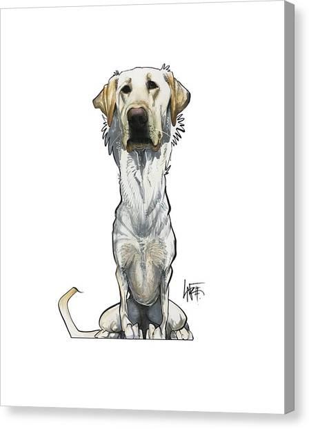 Yellow Lab Canvas Print - Mcgowan 3471 by John LaFree