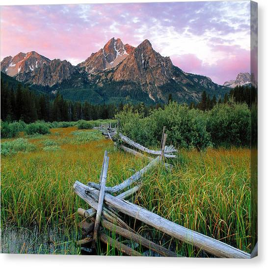 Mcgown Peak 2 Canvas Print by Leland D Howard