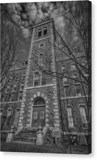 Cornell University Canvas Print - Mcgraw Hall - Bw by Stephen Stookey