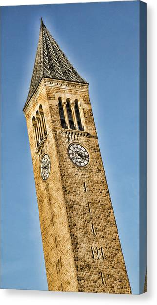 Cornell University Canvas Print - Mcgraw Tower by Stephen Stookey