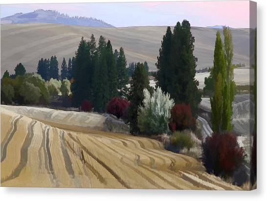 Mckenzie Road In The Palouse Canvas Print by Jerry McCollum