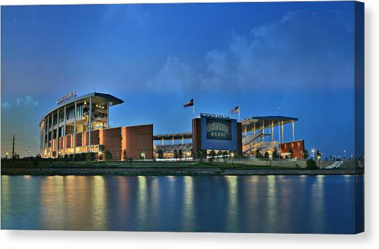 Quarterbacks Canvas Print - Mclane Stadium -- Baylor University by Stephen Stookey