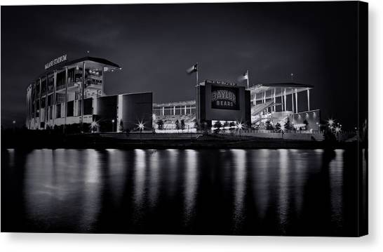 Big Xii Canvas Print - Mclane Stadium - Bw No. 3 by Stephen Stookey