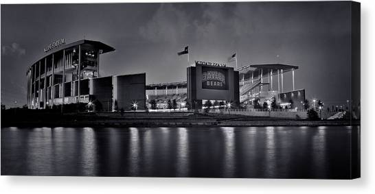 Baylor University Canvas Print - Mclane Stadium - Bw No.2 by Stephen Stookey