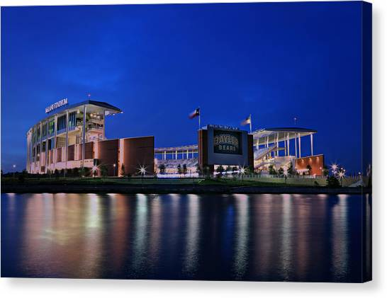 Baylor University Canvas Print - Mclane Stadium Evening by Stephen Stookey