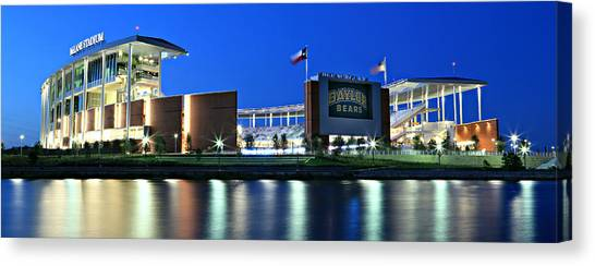 Baylor University Canvas Print - Mclane Stadium Panoramic by Stephen Stookey