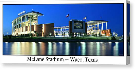 Baylor University Canvas Print - Mclane Stadium Print by Stephen Stookey