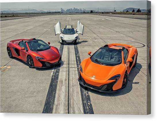 Canvas Print featuring the photograph #mclaren #650s #party by ItzKirb Photography