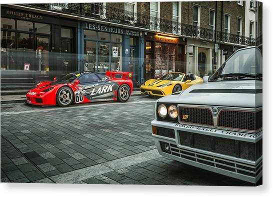 Mclaren F1 Gtr With Speciale And Integrale  Canvas Print