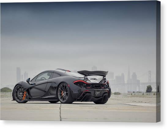 Canvas Print featuring the photograph #mclaren Mso #p1 by ItzKirb Photography
