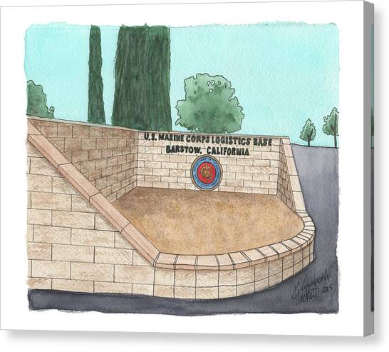 Mclb Barstow Welcome Canvas Print