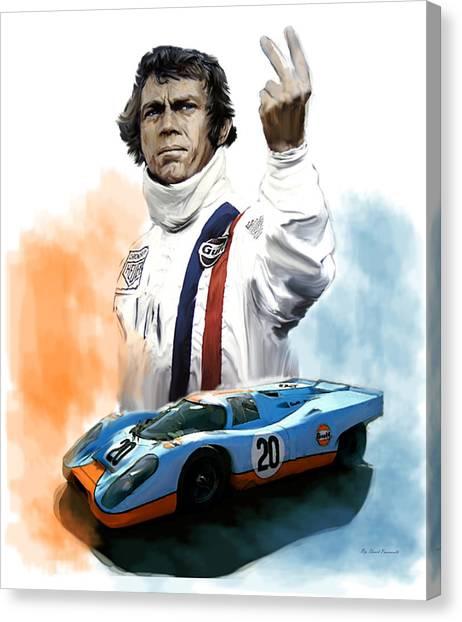Mcqueens Passion Le Mans Steve Mcqueen Canvas Print