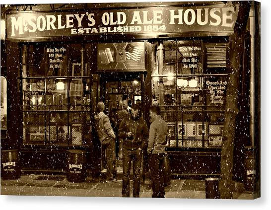 Pub Canvas Print - Mcsorley's Old Ale House by Randy Aveille