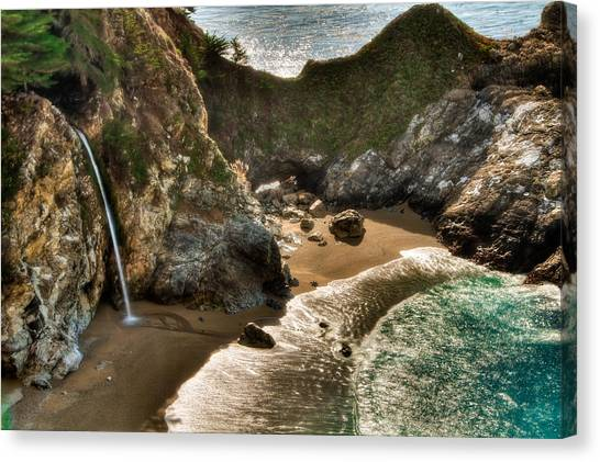 Mcway Falls Hwy 1 California Canvas Print