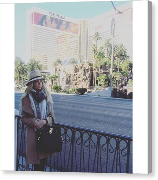 Mirages Canvas Print - #me #amazing #love #winter #vegas by Angelina Selensky