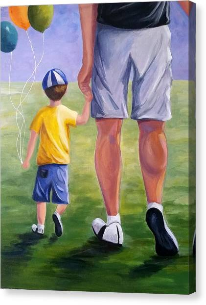 Me And My Dad Canvas Print