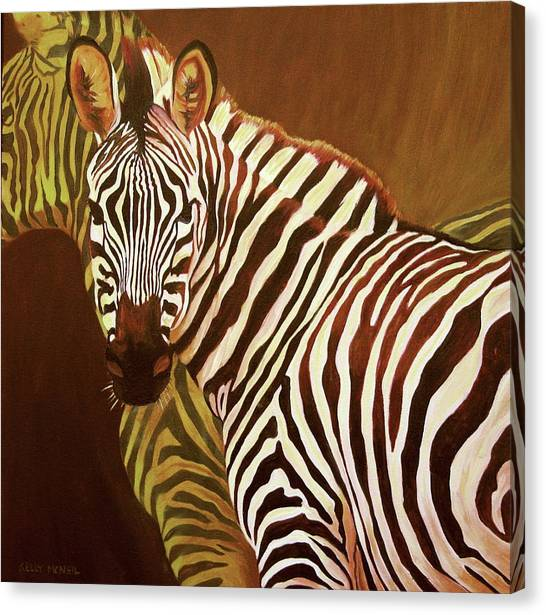 Me And My Friend Canvas Print by Kelly McNeil