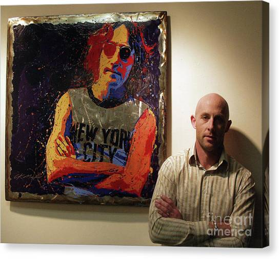 Me And My Mate John Canvas Print