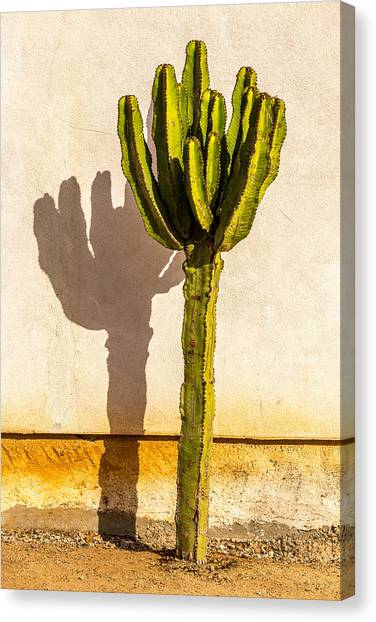 Old Town San Diego Canvas Print - Me And My Shadow by Peter Tellone