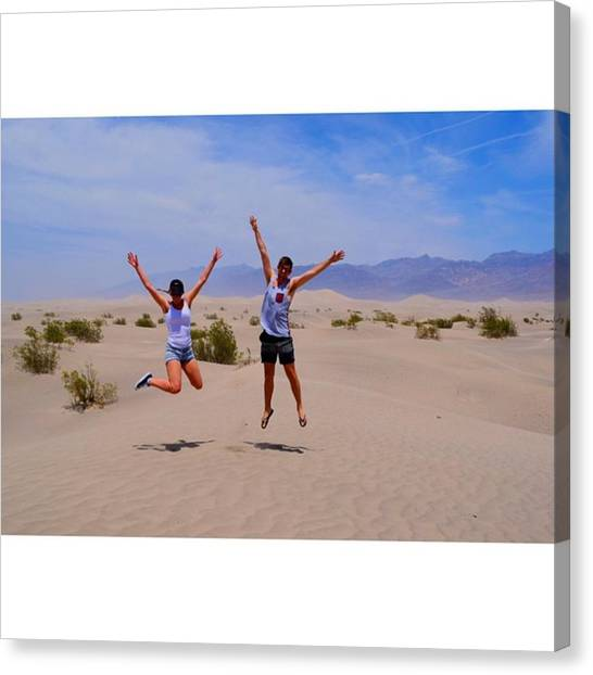 Scotty Canvas Print - Me And The My Girlfriend @ Death Valley by Scotty Brown