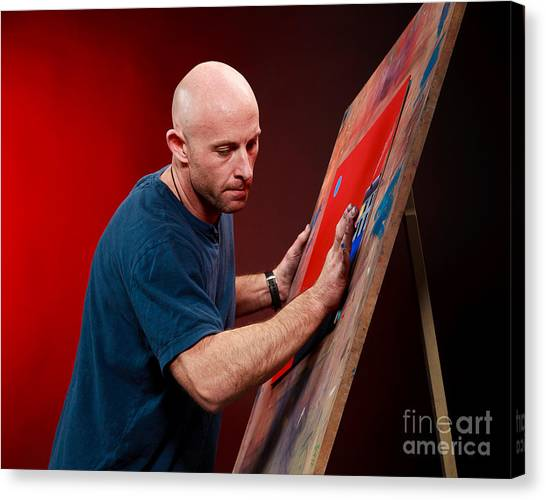 Me At Work Canvas Print