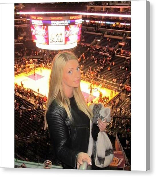 La Lakers Canvas Print - #me #losangeles #la #lakers #fun #happy by Angelina Selensky