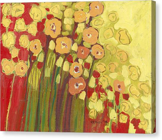 Floral Canvas Print - Meadow In Bloom by Jennifer Lommers