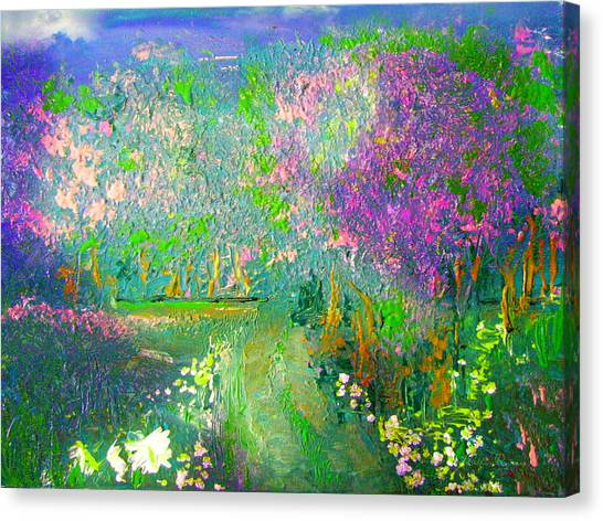 Meadow Trail By Colleen Ranney Canvas Print