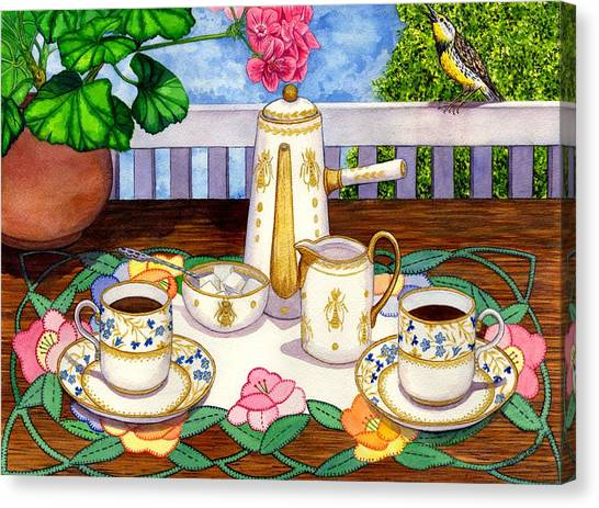 Meadowlarks Canvas Print - Meadowlark by Catherine G McElroy