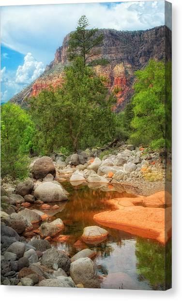 Meandering Oak Creek Canyon Canvas Print