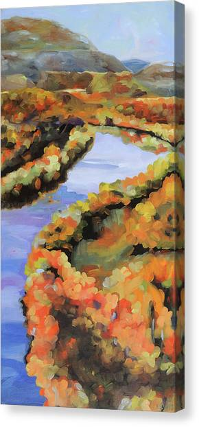 Meandering Shenandoah Canvas Print by Anne Lewis