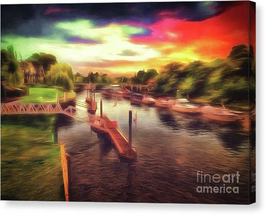 Meanwhile Back On The River Canvas Print