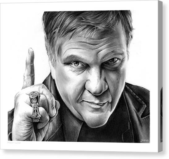 Meat Canvas Print - Meat Loaf by Greg Joens
