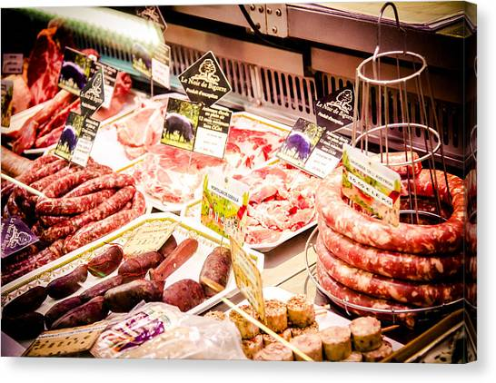 Canvas Print featuring the photograph Meat Market by Jason Smith