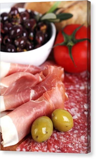 Ham Canvas Print - Meat Platter  by Jane Rix