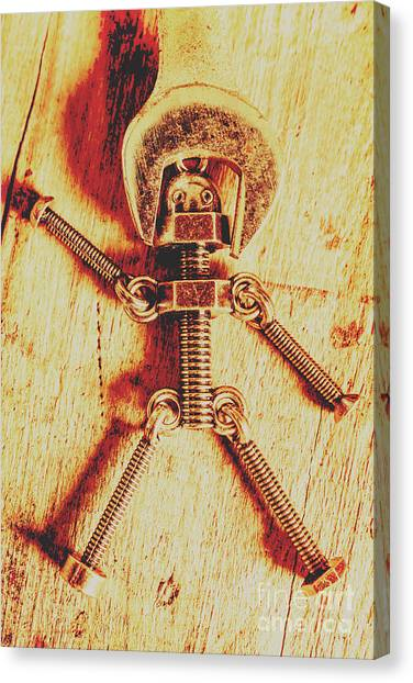 Repairs Canvas Print - Mechanical Nut  by Jorgo Photography - Wall Art Gallery