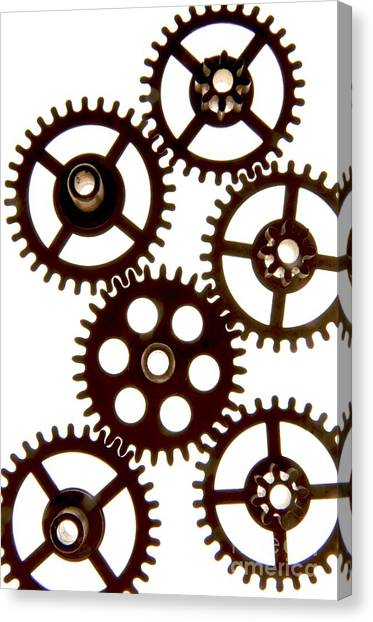 Cut-outs Canvas Print - Mechanism by Bernard Jaubert