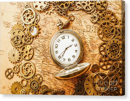 Ancient Art Canvas Print - Mechanisms In Industrial Time by Jorgo Photography - Wall Art Gallery