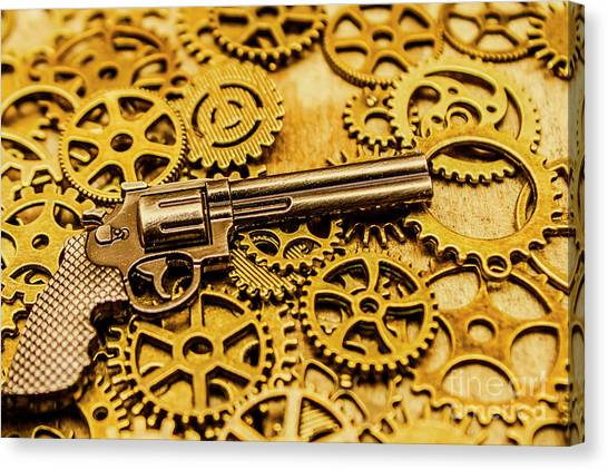 Pistols Canvas Print - Mechanisms Of The Wild West  by Jorgo Photography - Wall Art Gallery