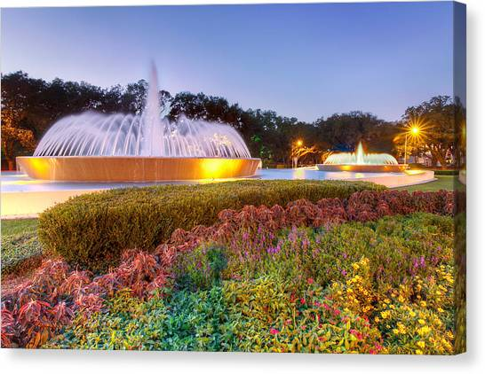 Mecom Fountain Canvas Print