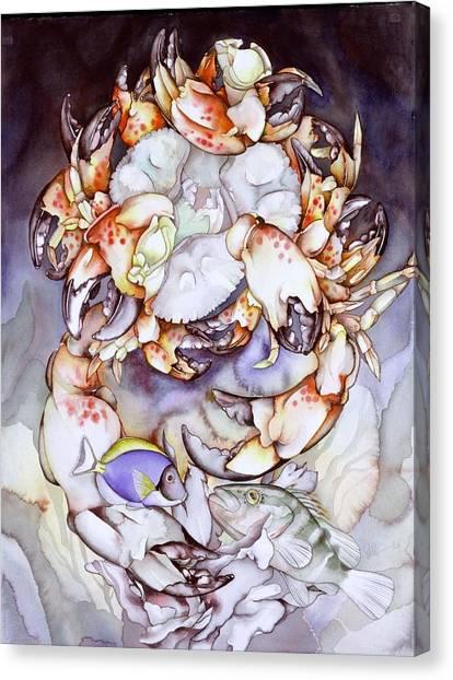Medallion Series V Canvas Print by Liduine Bekman