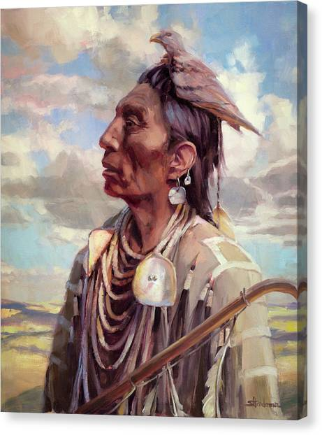 Wyoming Canvas Print - Medicine Crow by Steve Henderson