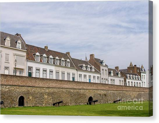 Maastricht Canvas Print - Medieval Citywall With Canons by Patricia Hofmeester