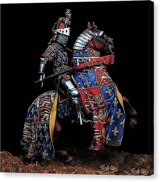Medieval Knight - 02 Canvas Print