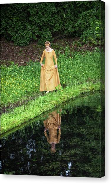 Medieval Lady, Barefoot Canvas Print