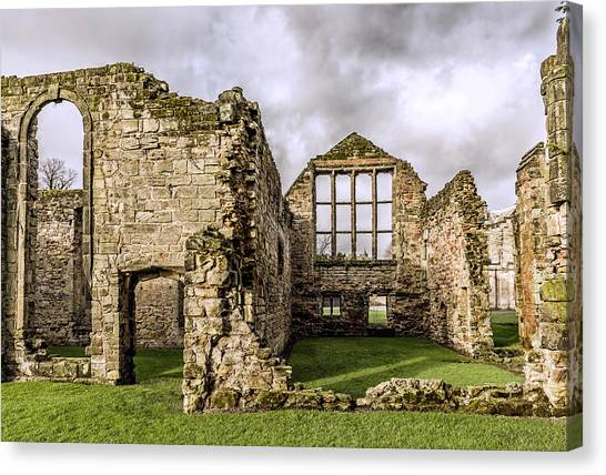 Canvas Print featuring the photograph Medieval Ruins by Nick Bywater